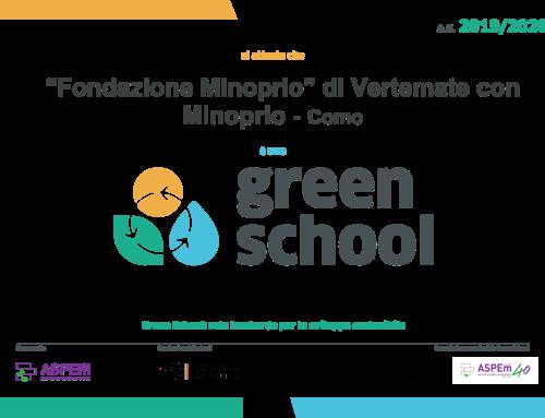 Fondazione Minoprio ottiene la certificazione di Green School