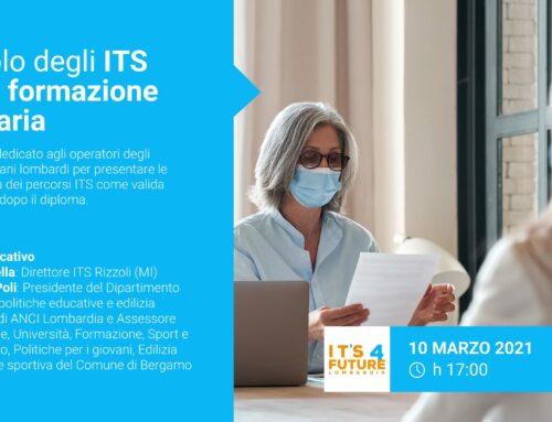 10 marzo ore 17.00: evento di presentazione degli ITS agli operatori degli ORIENTAGIOVANI